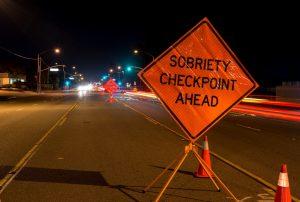 A DUI check point in Anaheim, CA.